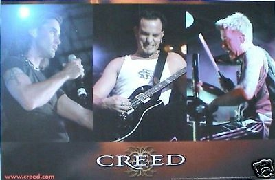 """CREED """"HUMAN CLAY"""" 2-SIDED U.S. PROMO POSTER SHOWS GROUP & ALBUM - Alter Bridge"""