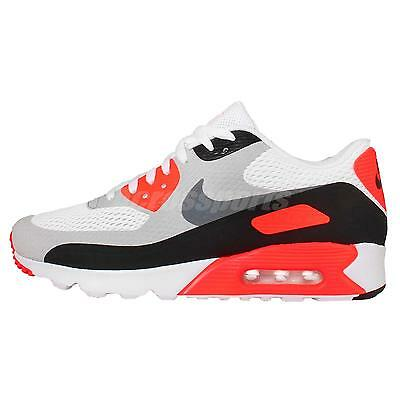 Nike Air Max 90 Ultra Essential OG Infrared Grey Mens Running Shoes 819474-106