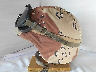 HELMET COVER Desert Camo Med Large USGI Chocolate Chip camouflage Fabric