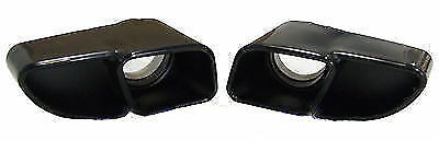 Porsche 911 997 Turbo Black Chrome Finish Twin Tailpipes to fit Gen 1 06-09