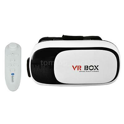 Virtual Reality 3D VR Glasses Headset Headband with Bluetooth Remote Control