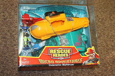 Fisher Price RESCUE HEROES - Underwater Nightmare Submarine - BRAND NEW