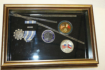Lot of 4 Mississippi Military National Guard Medals / Coins in Shadow Box