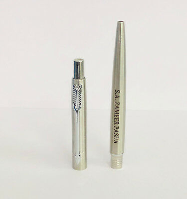 Personalised Engraved Parker Classic Steel Chrome Trim Ball Point Pen Gift New
