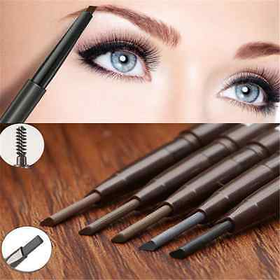 Fashion Makeup Waterproof Eyebrow Eye Brow Pencil Liner With Brush Cosmetic Tool