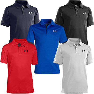 Under Armour 2016 Youth UA Matchplay Junior Polo Boys Short Sleeve Golf Shirt