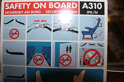 Swissair A310 HB-IPK/N Safety Card