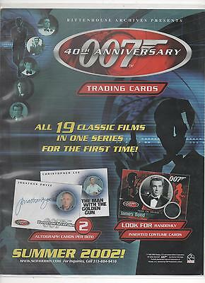 James Bond - 40Th Anniversary - Binder,Sell Sheet,Promos And Various Cards
