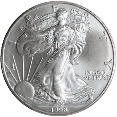 1998 $1 American Silver Eagle 1 oz Brilliant Uncirculated