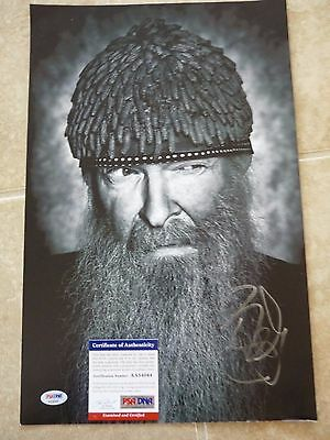 Billy Gibbons ZZ Top Signed Autographed 11x17 B&W Photo PSA Certified #2