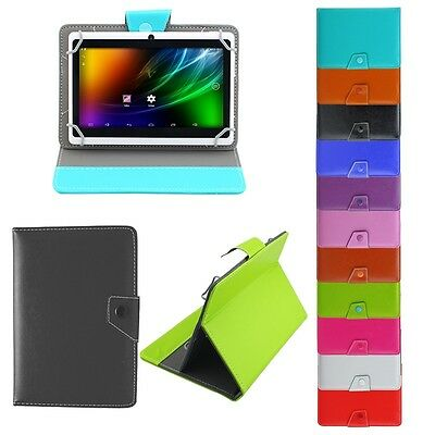 Universal PU Leather Folio Stand Case Cover For Tablet PC 7'' 8'' 9'' 10.1'' UK