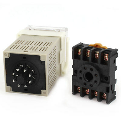 DH48J-8 AC/DC 12V 0-999900 8-Pin Adjustable Time Delay Timer Relay