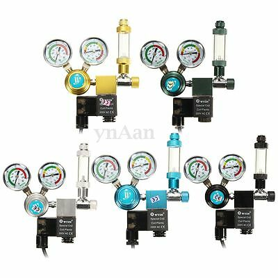 Aquarium Planted CO2 Pressure Regulator Magnetic Valve Solenoid Bubble Counter Y