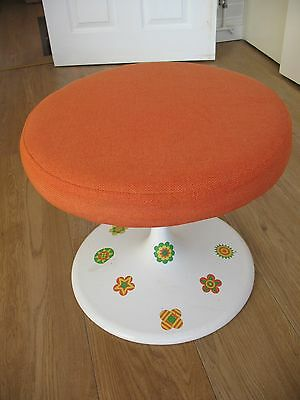 Old vintage mid century 1960's funky retro atomic casual occasional stool