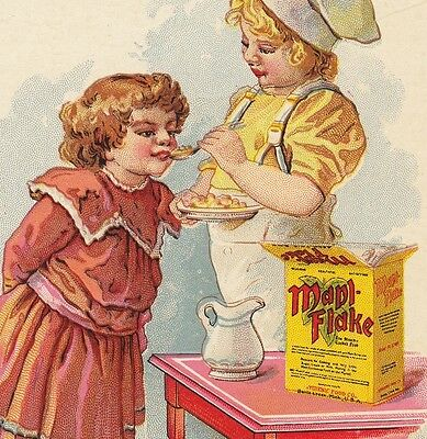Maple Flake Hygienic Food Co Battle Creek MI Mapl Cereal Advertising Trade Card