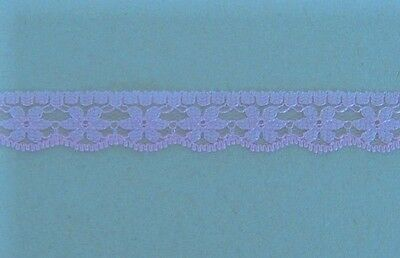 CRAFT-SEWING-LACE 13mm Lavender Flower Design Lace(metre variations available)