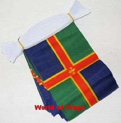 LINCOLNSHIRE BUNTING 9m 30 Fabric Flags Lincoln Flag English County 9 Metres