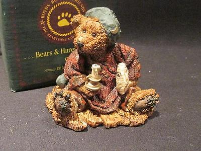 Neville the Bedtime Bear #2002  Boyds Bears Bearstone 1993 Figure Box 17E/572