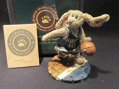 Buzz the Flash Bunny Basketball  #227706 Boyds Bears Bearstone Figure Box & COA