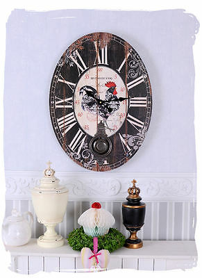 Kitchen timer Vintage Cock Bistro Clock french Country style Wall Large
