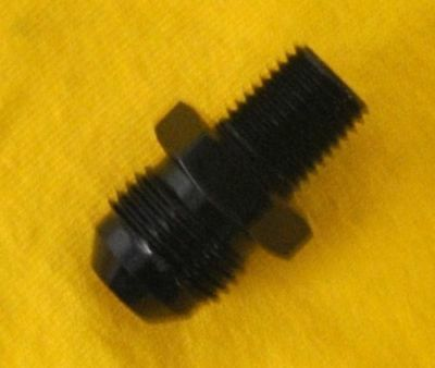 Straight Adapter 6 an to 1/8 npt Fitting Black