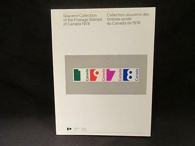 1978 Annual Souvenir Collection of Postage Stamps Issued for Canada Nice Condit.