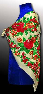 Vintage Very Beautiful Uzbek Russia Gypsy Wool Shawl Excellent Condition A5037