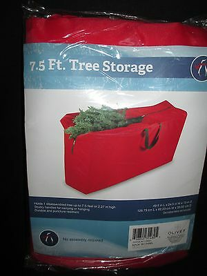 Christmas Artificial Tree Red Storage Duffel Bag 7.5' Container Cover Bedding