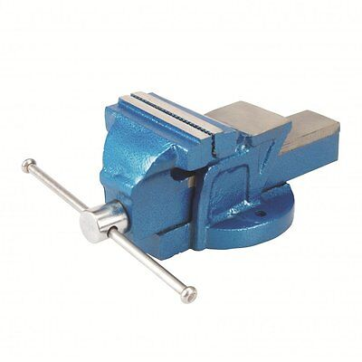 "Bench Vice Workshop Clamp Engineers 4"" 100mm Jaw Workshop Silverline 633792 NEW"