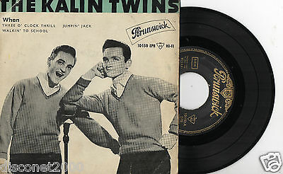 THE KALIN TWINS - When+ 3, EP RARE SPAIN 1959
