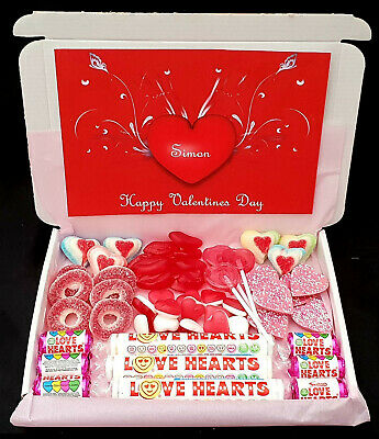 Valentines Day Sweet Chocolate Gift Box Personalised Love you Heart Mothers Day