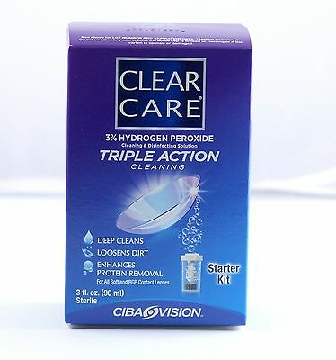 Travel Size  AO Sept Clear Care Contact Lens Solution w/ disc Expires 4/17
