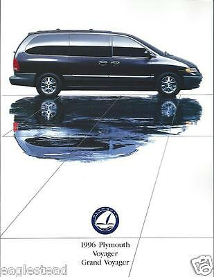 Auto Brochure - Plymouth - Voyager Grand Voyager 1996 Minivan 2 items (AB841)