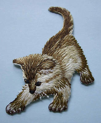 Iron-On Embroidered Patch - Cat - Kitten #3