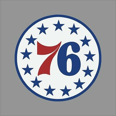 Philadelphia 76ers #5 NBA Team Logo Vinyl Decal Sticker Car Window Wall Cornhole