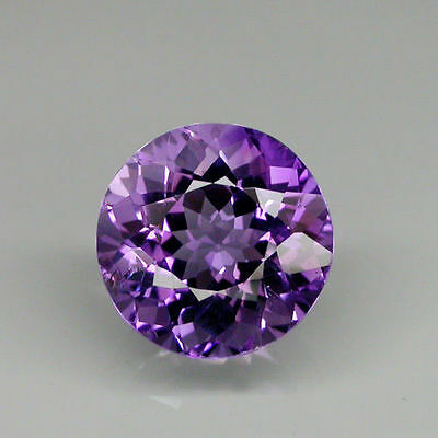 7mm ROUND-FACET LIGHT-PURPLE NATURAL BRAZILIAN AMETHYST GEMSTONE