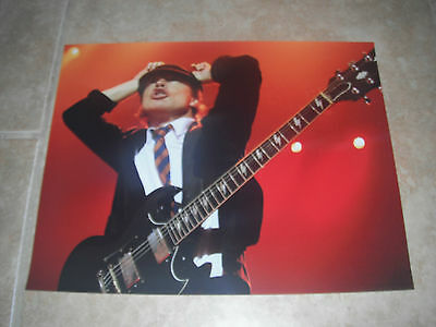 Angus Young AC/DC Guitar Live Music Color 11x14 Promo Photo