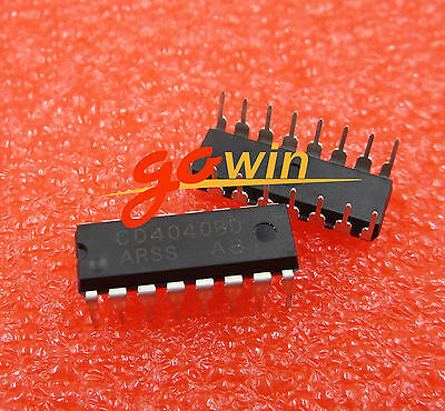 10PCS CD4040 4040 Ripple-Carry Binary Counter/Divider IC NEW