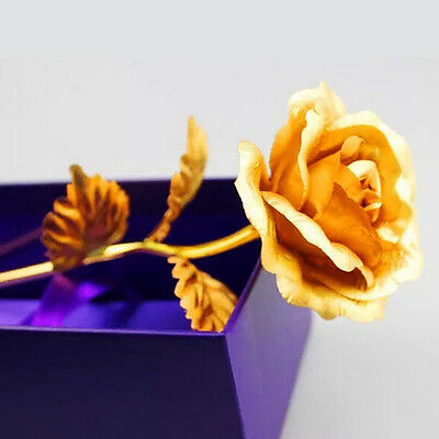 Goldleaf Rose Dipped Foil Floral Birthday Valentine's Day Mother Day Gift + Box