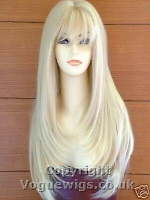 Forever Young Ladies Breathtaking XXX Long Light Blonde Blend Full Wig