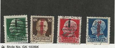 Italy Socialist Republic, Postage Stamp, #1, 3-5 Used, 1944