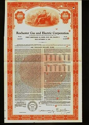 Rochester Gas and Electric Corporation  USD 1,000 - dd 1959