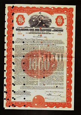 Oklahoma  Gas and Electric Company   USD 1,000 - dd 1957