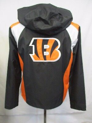 Cincinnati Bengals Women Medium Black Full Zip Windbreaker Jacket NFL A14TR 566590c1a2