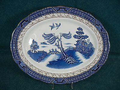 """Booth Booths Real Old Willow A8025 Small 12 1/4"""" Oval Serving Platter"""