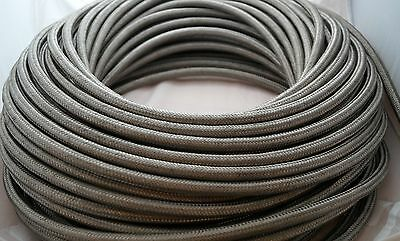 AN-4 (JIC4) Stainless Braided Hose 1m, Fuel, Oil Cooler, Water, 1 metre, 6mm ID