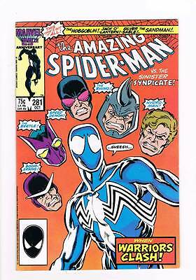 Amazing Spider-Man # 281  Warriors Clash ! grade 8.5 scarce hot book !!