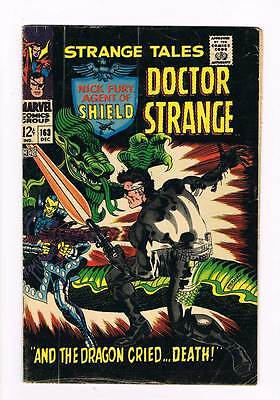 Strange Tales # 163  Nick Fury !  Doctor Strange ! grade 4.0 scarce hot book !