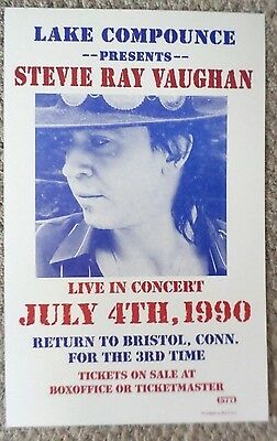 Stevie Ray Vaughan live playing at Lake Compounce Poster Print