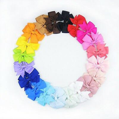 """20pcs 3"""" Baby Girls Children Toddler Flowers Hair Clip Bow Accessories Hairpin"""
